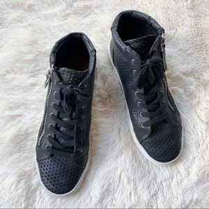 Perforated High-Top Sneaker